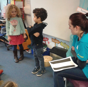 Acting out the tale of Tootoomoo at Coleridge Primary School