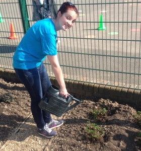 Tootoomoo volunteering at Rokesly School garden