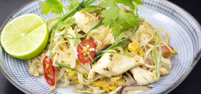 Our gluten free take on classic pad thai has oodles of noodles and is so moreish you'll be glad of it!