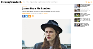 Award winning musician James Bay thinks we're out of this world!