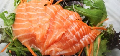 OM(e)G(a). Our sumptuous Salmon sashimi is just as delicious as it is healthy!