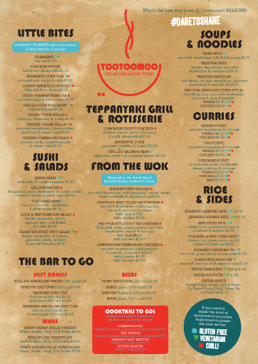 Collection Menu available from restaurants in Crouch End and Whetstone