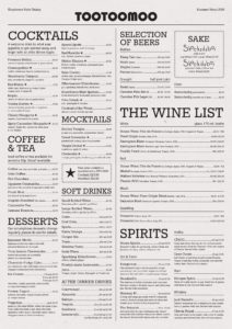 Whetstone Restaurant Menu