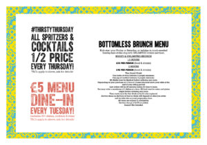 Terms & Conditions for Bottomless Brunch